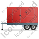 Ultra Silent Generator Trailer Left Red Icon, PNG/ICO, 128x128