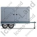 Ultra Silent Generator Trailer Right Grey Icon