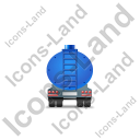 Waste Tanker Trailer Back Blue Icon