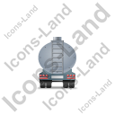 Waste Tanker Trailer Back Grey Icon