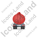 Waste Tanker Trailer Back Red Icon