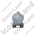 Waste Tanker Trailer Front Grey Icon, PNG/ICO, 128x128