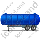 Waste Tanker Trailer Left Blue Icon, PNG/ICO, 128x128