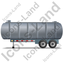 Waste Tanker Trailer Left Grey Icon