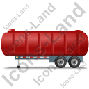 Waste Tanker Trailer Left Red Icon