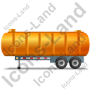 Waste Tanker Trailer Left Yellow Icon