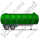 Waste Tanker Trailer Right Green Icon