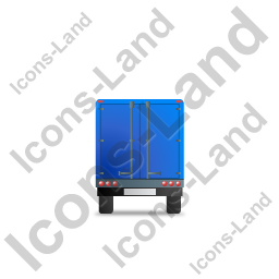 Box Trailer Back Blue Icon