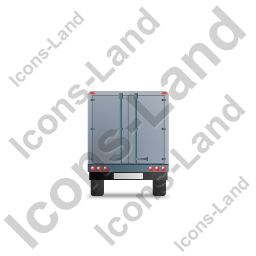 Box Trailer Back Grey Icon