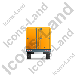 Box Trailer Back Yellow Icon, PNG/ICO, 256x256