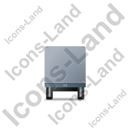 Box Trailer Front Grey Icon, PNG/ICO, 256x256
