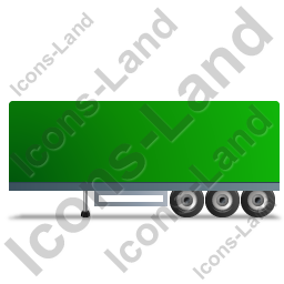Box Trailer Left Green Icon