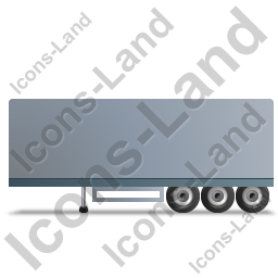 Box Trailer Left Grey Icon, PNG/ICO, 256x256