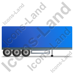 Box Trailer Right Blue Icon