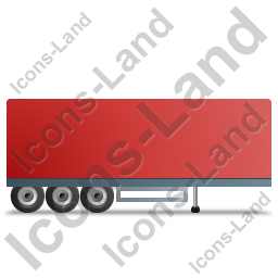 Box Trailer Right Red Icon, PNG/ICO, 256x256