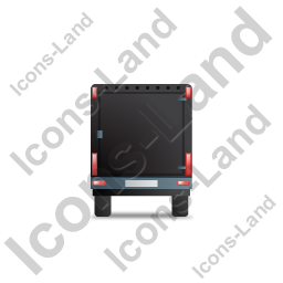 Car Trailer Back Black Icon