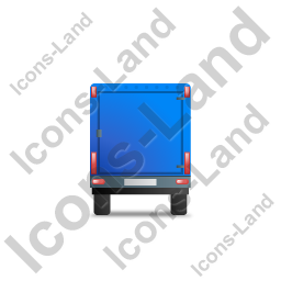 Car Trailer Back Blue Icon