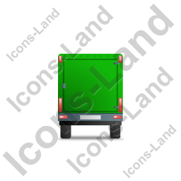 Car Trailer Back Green Icon