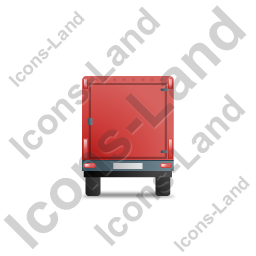 Car Trailer Back Red Icon