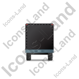 Car Trailer Front Black Icon, PNG/ICO, 256x256