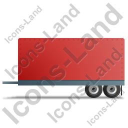 Car Trailer Left Red Icon, PNG/ICO, 256x256