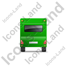 Caravan Back Green Icon