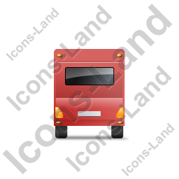 Caravan Back Red Icon, PNG/ICO, 256x256