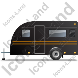 Caravan Left Black Icon