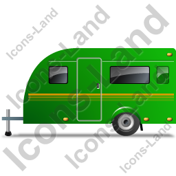 Caravan Left Green Icon, PNG/ICO, 256x256