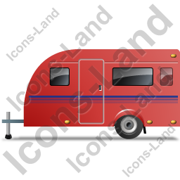 Caravan Left Red Icon, PNG/ICO, 256x256