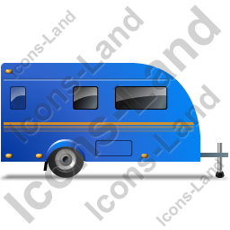 Caravan Right Blue Icon