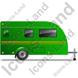 Caravan Right Green Icon, PNG/ICO, 256x256