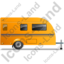 Caravan Right Yellow Icon, PNG/ICO, 256x256