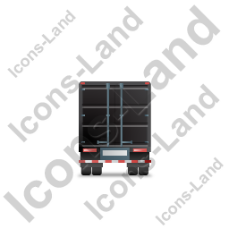 Containerized Generator Trailer Back Black Icon