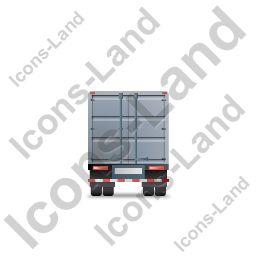 Containerized Generator Trailer Back Grey Icon
