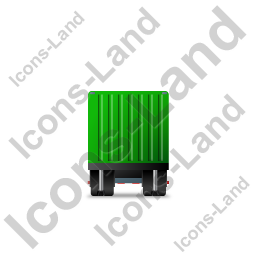 Containerized Generator Trailer Front Green Icon, PNG/ICO, 256x256