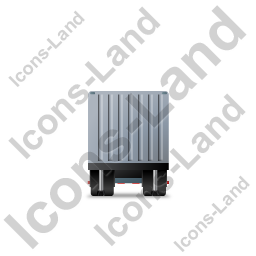 Containerized Generator Trailer Front Grey Icon