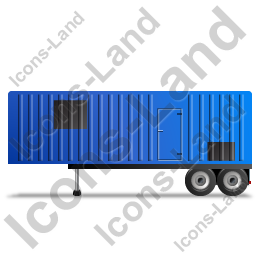 Containerized Generator Trailer Left Blue Icon, PNG/ICO, 256x256