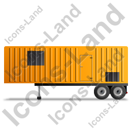 Containerized Generator Trailer Left Yellow Icon