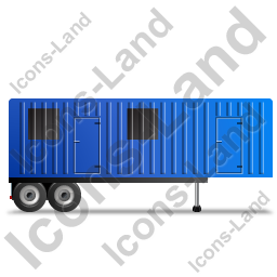 Containerized Generator Trailer Right Blue Icon, PNG/ICO, 256x256