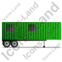 Containerized Generator Trailer Right Green Icon, PNG/ICO, 256x256