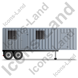 Containerized Generator Trailer Right Grey Icon