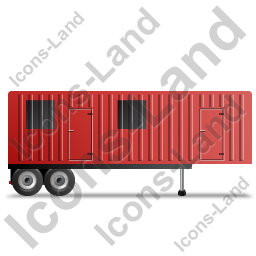 Containerized Generator Trailer Right Red Icon, PNG/ICO, 256x256