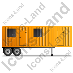 Containerized Generator Trailer Right Yellow Icon