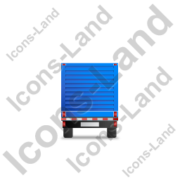 Flatbed Trailer Bulkhead Back Blue Icon, PNG/ICO, 256x256