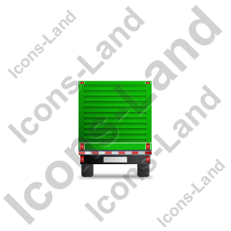Flatbed Trailer Bulkhead Back Green Icon