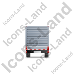 Flatbed Trailer Bulkhead Back Grey Icon