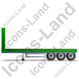 Flatbed Trailer Bulkhead Left Green Icon, PNG/ICO, 256x256