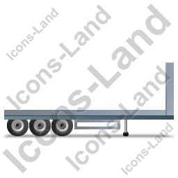 Flatbed Trailer Bulkhead Right Grey Icon, PNG/ICO, 256x256