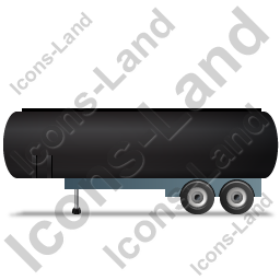 Tanker Trailer Left Black Icon